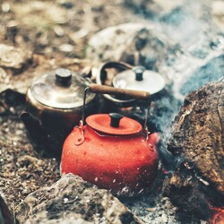 Coffee over a campfire