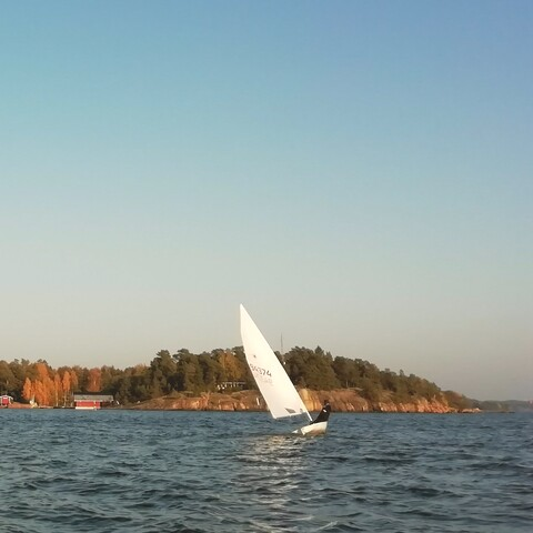 Dinghy Sailing on Björkholm island