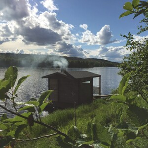 Floating Sauna and Swimming in the Ounasjoki River, Rovaniemi