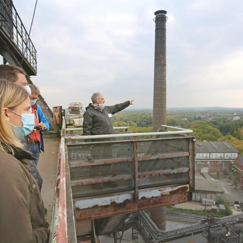 Blast furnace tour through the landscape park Duisburg-North